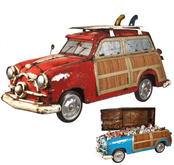 Think Outside Woody Station Wagon Cooler Red